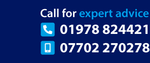 Call for expert advice 01978 845736 or 07702 270278